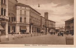 MESTRE D'EPOCA DETTAGLI RIVIERA XX SETTEMBRE ANIMATA FORMATO PICCOLO ANNO 1943 - Venezia (Venice)
