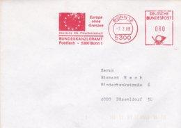 Germany Cover With Machine Cancel Bonn 1988 Deutsche EG Präsidentschaft - Bundeskanzleramt (DD22-29) - Instituciones Europeas