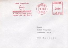 Germany Cover With Machine Cancel Bonn 1988 Deutsche EG Präsidentschaft - Auswärtiges Amt (DD22-29) - Instituciones Europeas