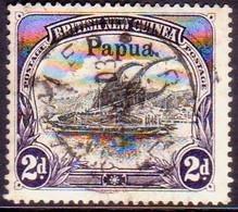 PAPUA (BRITISH NEW GUINEA) 1906 SG #23 2d Used Wmk Vertical Large Opt CV £5 - Papua New Guinea