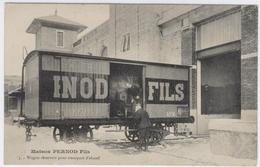 25 - PONTARLIER ** Wagon Réservoir Pour Transport De L'alcool ** MAISON PERNOD FILS ** / 1840 A - Railway