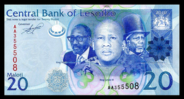# # # Banknote Aus Lesotho 20 Maloti UNC # # # - Lesotho