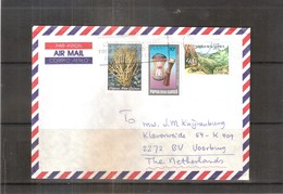 Cover From PNG To Netherlands (to See) - Papouasie-Nouvelle-Guinée