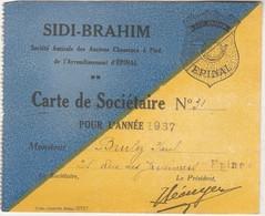 Carte SIDI-BRAHIM / 1937 / Sté Amicale Des Chasseurs à Pied / 88 Epinal - Documents
