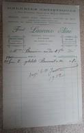 Facture Ancienne - Galeries Artistiques - Fernand Laurens - Béziers - 1902 - 1900 – 1949