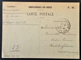 Carte De Franchise Militaire Compagnie D'Ouvriers P.A.D. Vers Casteljaloux Février 1940 - Marcophilie (Lettres)