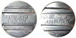 01228 GETTONE TOKEN JETON DISPENSER MACHINE DISTRIBUZIONE AUTOMATICA FAPIB PIACENZA SOFT DRINK - Italy