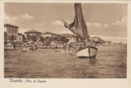 1930 Ca.-Viserba Forli', Bagnanti Nell'Ora Di Bagno, Barca, Viaggiata - Forlì