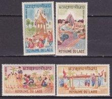 """1966-(MNH=**) Laos S.4v.""""folclore""""catalogo Yvert Euro 3,5 - Laos"""