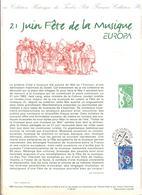FRANCIA - France - 1998 - Europa Cept - Fête De La Musique - Document - FDC - Strasbourg - Documenti Della Posta