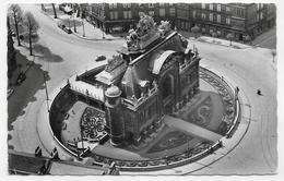 (RECTO / VERSO) LILLE EN 1956 - N° 13 - LA PORTE DE PARIS VUE DU BEFFROI - BEAU TIMBRE ET FLAMME - FORMAT CPA VOYAGEE - Lille