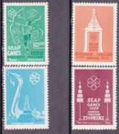 """1959-(MNH=**) Tailandia S.4v.""""Giochi Della Penisola Del Sud Est Asiatico""""catalogo Euro 7 - Thailand"""