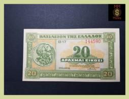 GREECE 20 Drachmai  6.4.1940  P. 315  UNC - Griekenland