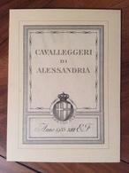 """STEMMI MILITARI CAVALLEGGERI DI ALESSANDRIA """" In Periculo Surgo"""" ANNO 1935 XIII E.F. (22x16) China Di Anonimo Su Cartone - Uniforms"""