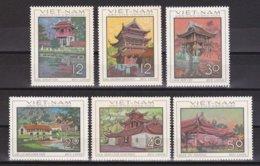 """1968-(MNH=**) Vietnam Del Nord S.6v.""""Architettura Antica""""catalogo Yvert Euro 7 - Vietnam"""
