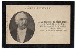 à La Mémoire De FELIX FAURE * Président République 1895 - Figuren