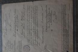 30 VILLENEUVE LES AVIGNON PEINTRE MEISSONNIER AUTORISATION BEAUX ARTS - Historical Documents