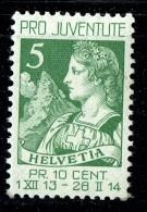 1913  Pro Juventute     * MH - Pro Juventute