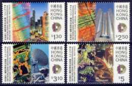 "1997-(MNH=**) Hong Kong China S.4v.""Monetary Fund Annual Meeting"" - 1997-... Regione Amministrativa Speciale Della Cina"