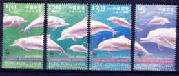 """1999-(MNH=**) Hong Kong China S.4v.""""Chinese White Dolphin"""" - Nuovi"""