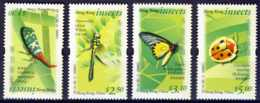 """2000-(MNH=**) Hong Kong China S.4v.""""Insects"""" - 1997-... Regione Amministrativa Speciale Della Cina"""