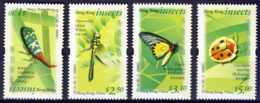 """2000-(MNH=**) Hong Kong China S.4v.""""Insects"""" - Nuovi"""