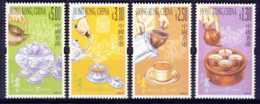 """2001-(MNH=**) Hong Kong China S.4v.""""Tea Culture"""" - Nuovi"""