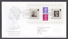 Great Britain 2007 40th Anniversary Of First Machin Definitives FDC - FDC