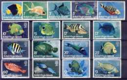 "1975-(MNH=**) British Virgin Islands S.17v.""Fishes"" - British Virgin Islands"