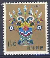 """1960-(MNH=**) Ryukyu Isole S.1v.""""Anno Nuovo"""" - Ryukyu Islands"""