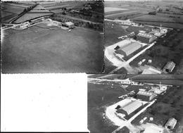 MACON - VUE AERIENNE DE L'AERO CLUB Avions, Hangars  - 3 Photos Originales 1958 & 60 COMBIER CIM Imp à Macon - Aviation