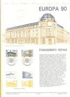 FRANCIA - France - 1990 - Europa Cept - Document Philatélique - FDC - Strasbourg - Documenti Della Posta