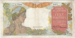 Indochina - Indochine 100 Rupees 1947 Pk 82 B Texto En Lao Actual, Firma 11 - Indochina