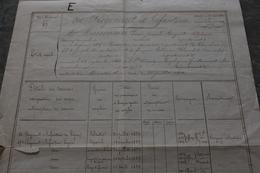 30 VILLENEUVE LES AVIGNON PEINTRE MEISSONNIER ETATS ETAT DE SERVICE LEGION D HONNEUR - Historical Documents