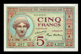 # # # Banknote Madagaskar (Madagascar) 5 Francs UNC # # # - Madagascar