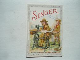 Carte Publicité Singer  Scouts - Fontenay Le Comte