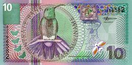 Billet De Banque Centrale Du Suriname 10 Gulden Type 1 Janvier 2000  Neuf - Surinam