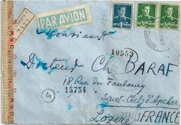 ROUMANIE LETTRE CENSUREE ALLEMAGNE PAR AVION RECOMMANDEE 1944 - 2. Weltkrieg (Briefe)