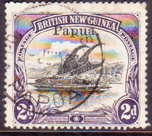 PAPUA (BRITISH NEW GUINEA) 1907 SG #40 2d Used Wmk Vertical Small Opt CV £2.25 - Papua New Guinea