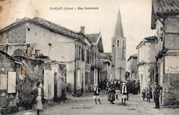 Panjas  32   La Rue Nationale  Tres Tres Animée - France