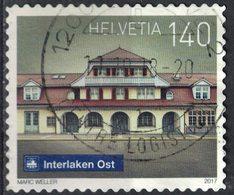 Suisse 2017 Oblitéré Used Railway Station Gare De Interlaken Est Ost SU - Usados