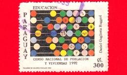 PARAGUAY - Usato - 1992 - Censimento Nazionale Della Popolazione E Abitazioni - Abaco - 300 - Paraguay