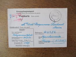 KRIEGSGEFANGENENPOST POSTKARTE 33 GEPRÜFT STALAG IX A 8 23.10.41 - Documents