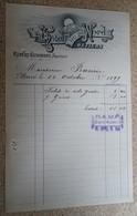 Facture Ancienne  - Hotel Du Nord - Béziers - 1897 - Francia