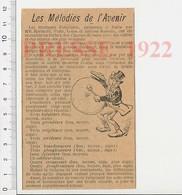 Presse 1922 Théatre Des Champs-Elysées Marinetti Piatti Antoine Russolo Bruiteur Son Musique Bruitage 226B - Documentos Antiguos