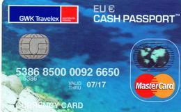 CREDIT CARD / MASTERCARD / GWK TRAVELEX - Geldkarten (Ablauf Min. 10 Jahre)
