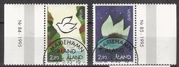 Aland 1995 Europa: Peace And Freedom Mi 100-101, Cancelled(o) - Aland