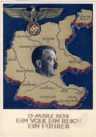 """1938-Germania Cartolina Postale Nuova 6p.""""Annessione Dell'Austria""""con Annullo Speciale Ein Volk Ein Reich Ein Fuhrer. Mi - Lettere"""