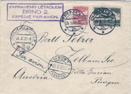 1932-Cecoslovacchia Lettera Aerea Diretta In Austria - Repubblica Ceca