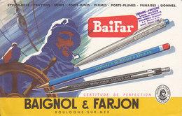 Baignol Et Farjon,un Marin Et Des Stylos - Stationeries (flat Articles)